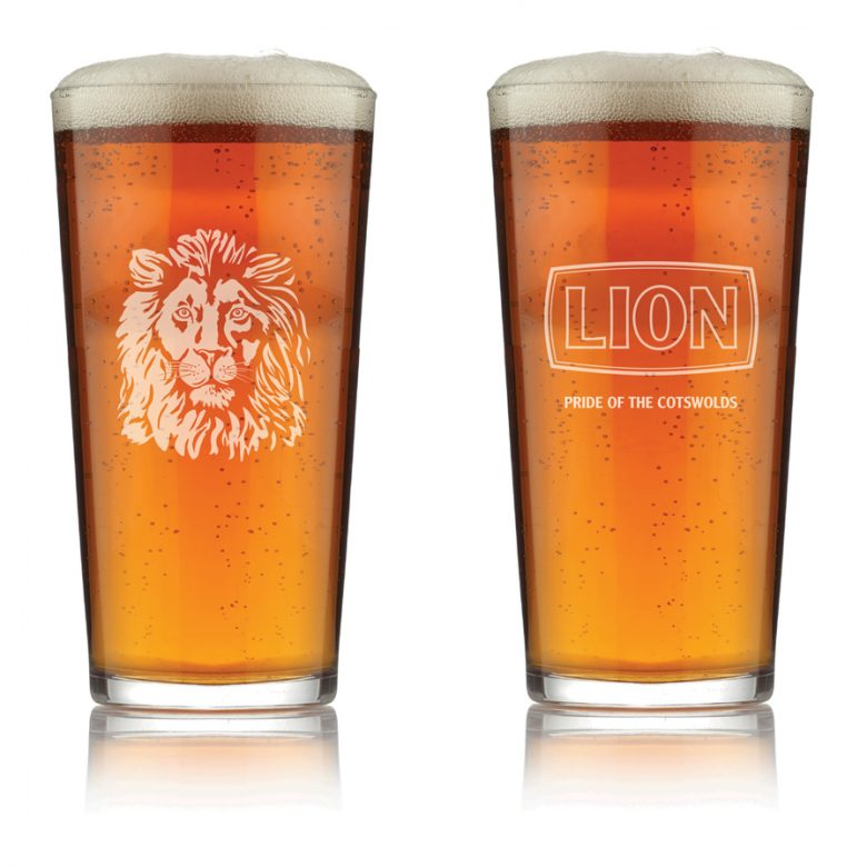 Lion-Pint-glass